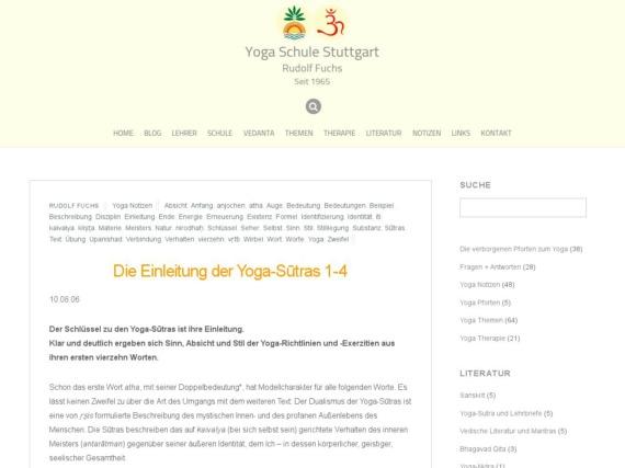 die einleitung der yoga sutras 1 4