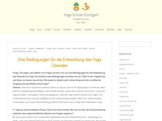 drei bedingungen fuer die entwicklung des yoga uebenden