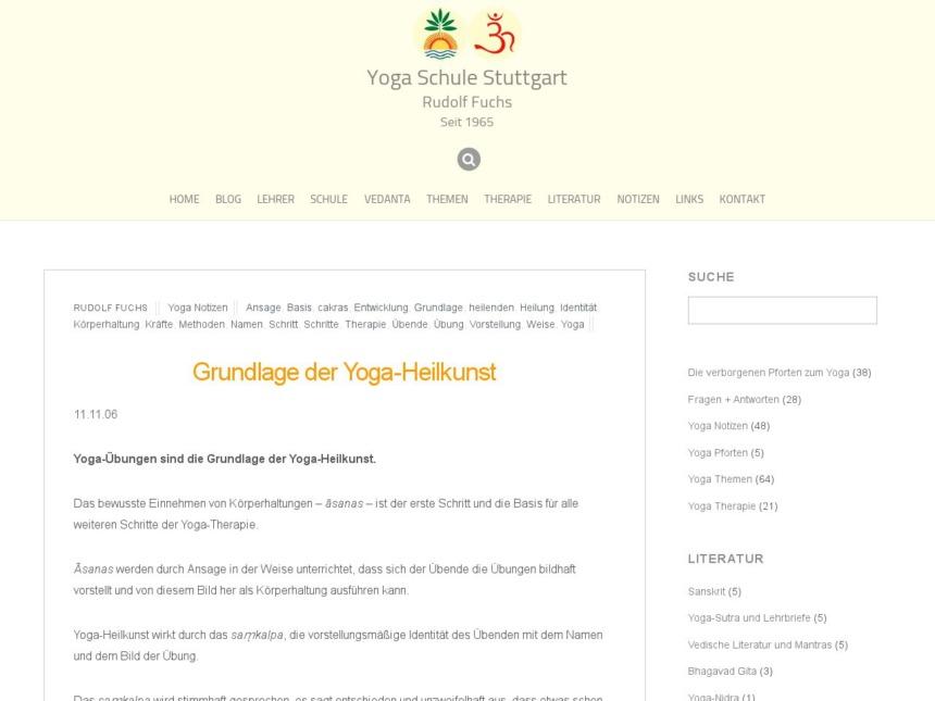 grundlage der yoga heilkunst