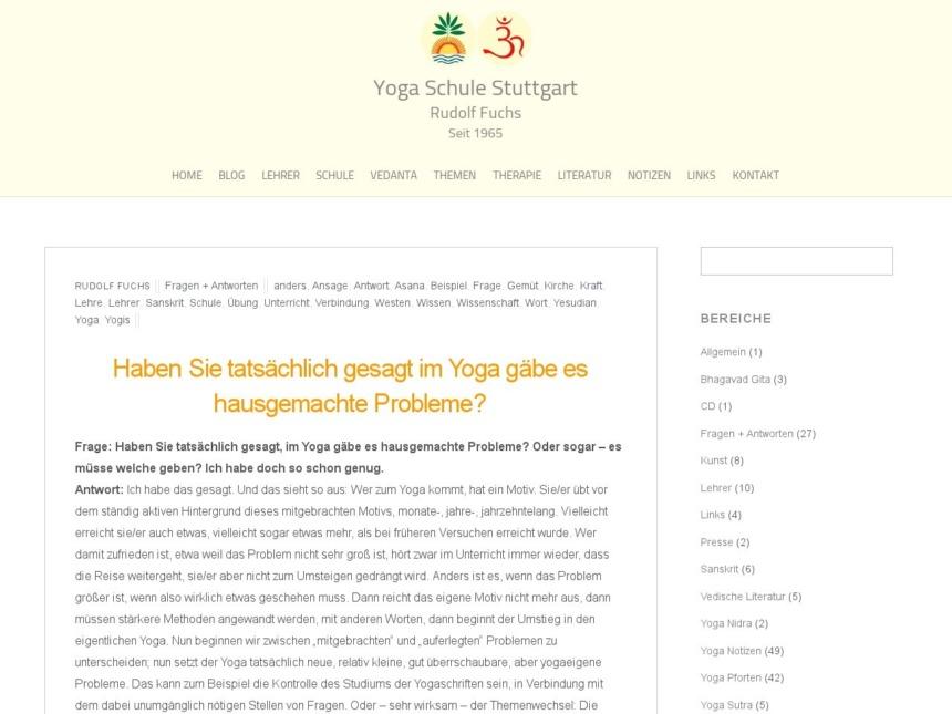 haben sie tatsaechlich gesagt im yoga gaebe es hausgemachte probleme