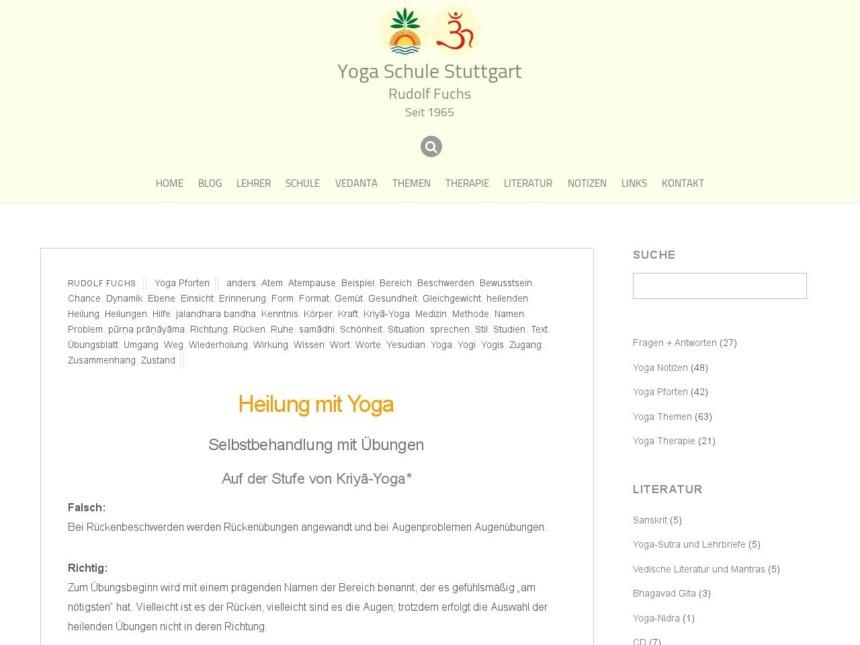 heilung mit yoga