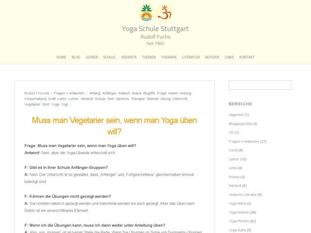 muss man vegetarier sein wenn man yoga ueben will