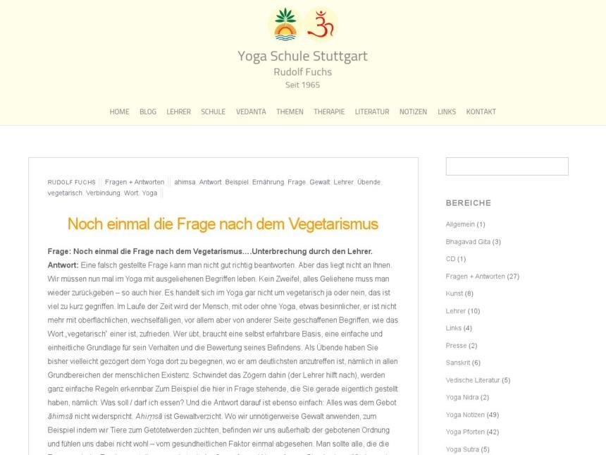 noch einmal die frage nach dem vegetarismus