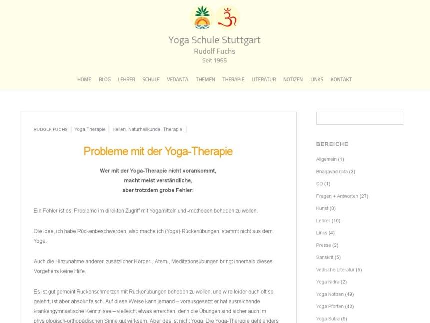 probleme mit der yoga therapie