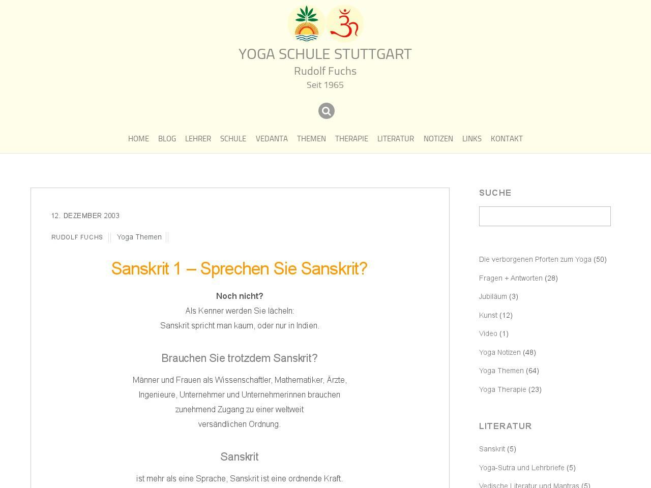 sprechen sie sanskrit