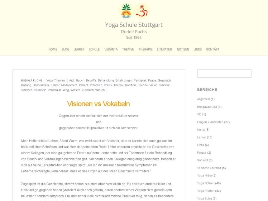visionen vs vokabeln