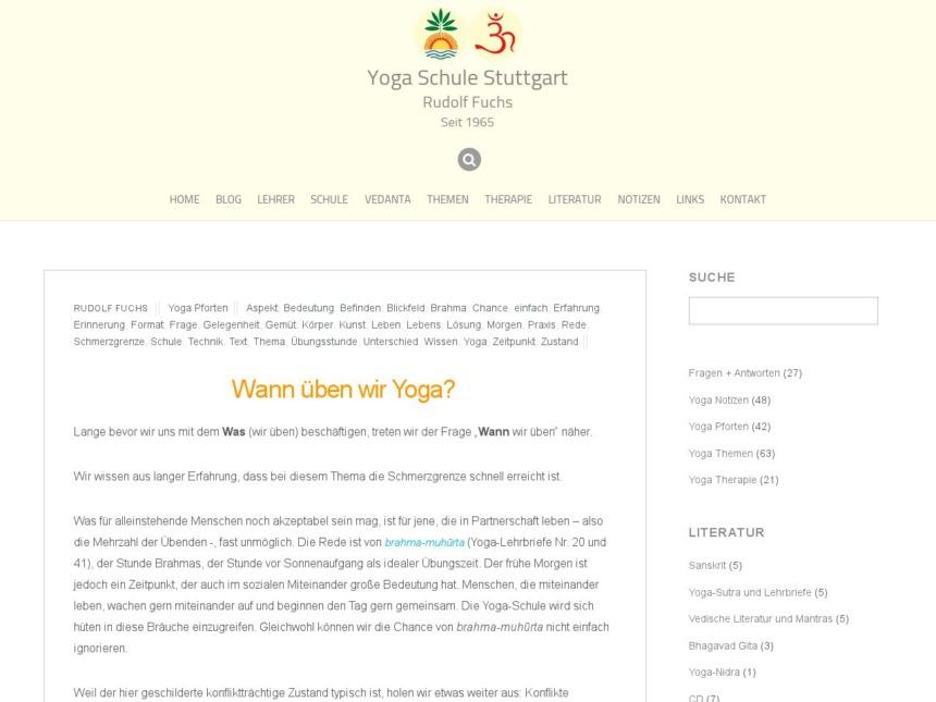 wann ueben wir yoga