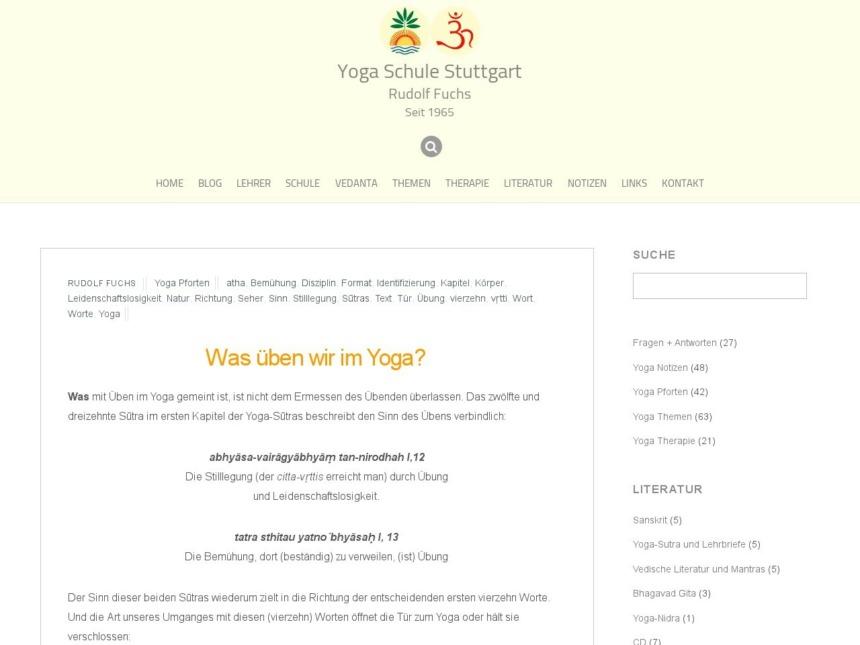 was ueben wir im yoga