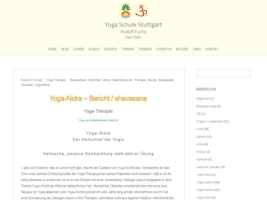 yoga nidra berichtshavasana