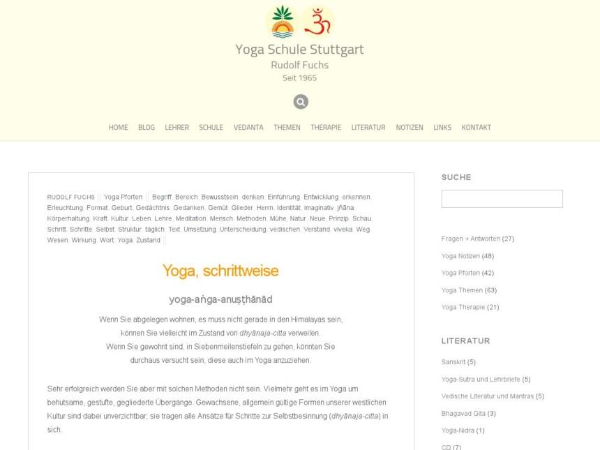 yoga schrittweise