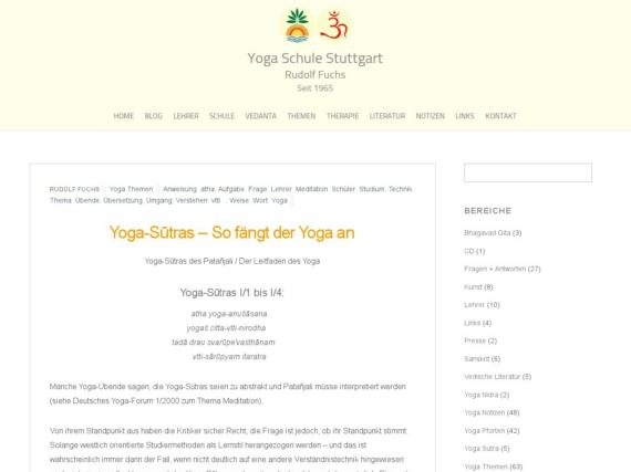 yoga sutras so faengt der yoga an