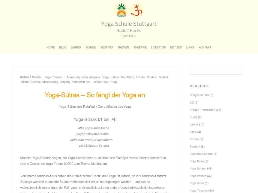 yoga sutras so faengt der yoga an
