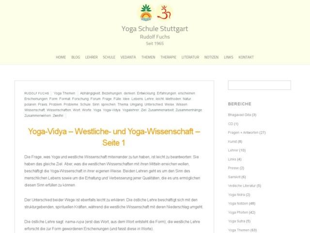 yoga vidya westliche und yoga wissenschaft seite 1