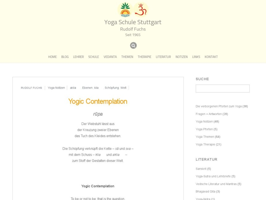 yogic contemplation